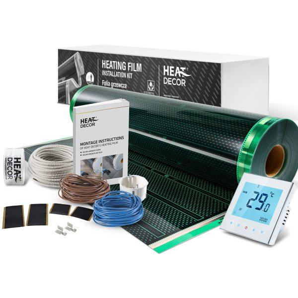 Folia grzewcza Heat Decor HD310G szer. 100cm ZESTAWY 140W/m² - z termostatem pokojowym BHT1000/W