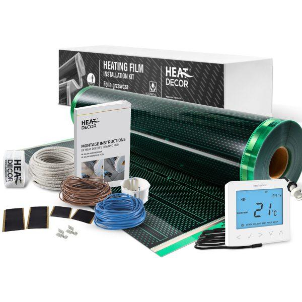 Folia grzewcza Heat Decor HD310G szer. 100cm ZESTAWY 220W/m² - z termostatem neoStat-e i czujnikiem zewnętrznym wall sensor