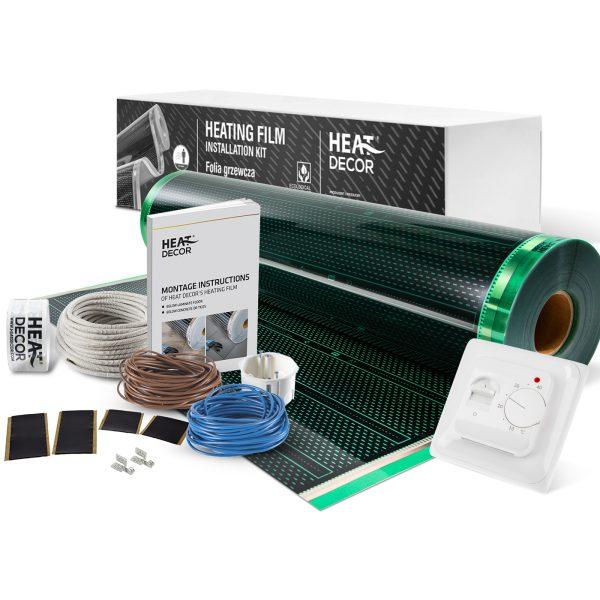 Folia grzewcza Heat Decor HD310G szer. 100cm ZESTAWY 140W/m² - z termostatem pokojowym HD-T01