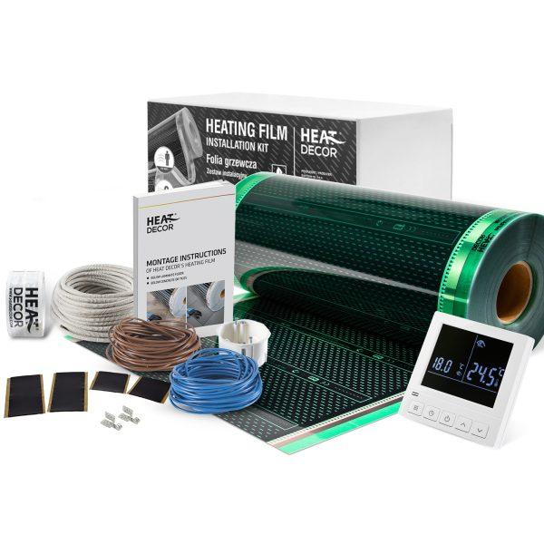 Folia grzewcza Heat Decor HD305G szer. 50cm ZESTAWY 140W/m² - z termostatem pokojowym HD-T02