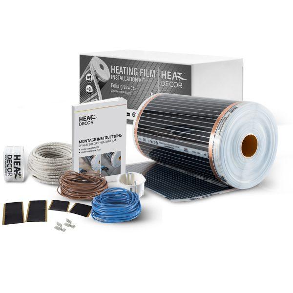 Ogrzewanie podłogowe Heat Decor HD305 szer. 50cm ZESTAWY 220W/m² - bez termostatu