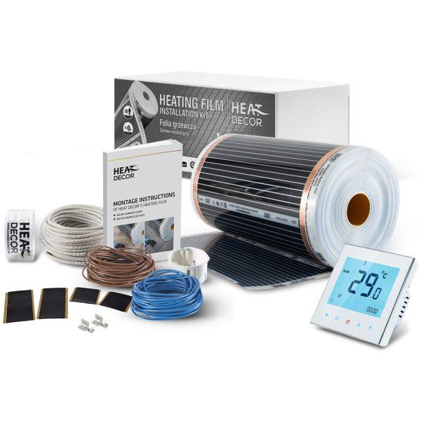 Folia grzewcza Heat Decor HD305 szer. 50cm ZESTAWY 140W/m² - z termostatem pokojowym BHT1000