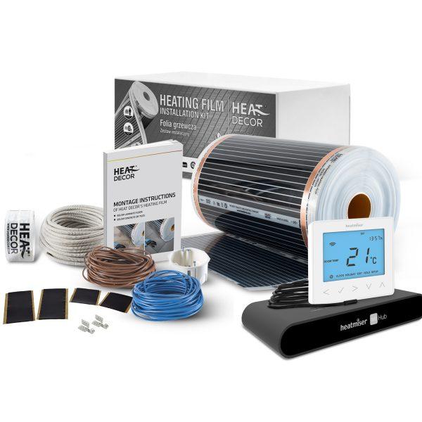 Folia grzewcza Heat Decor HD305 szer. 50cm ZESTAWY WiFi 140W/m² - z termostatem neoStat-e i centralą sterującą neoHub