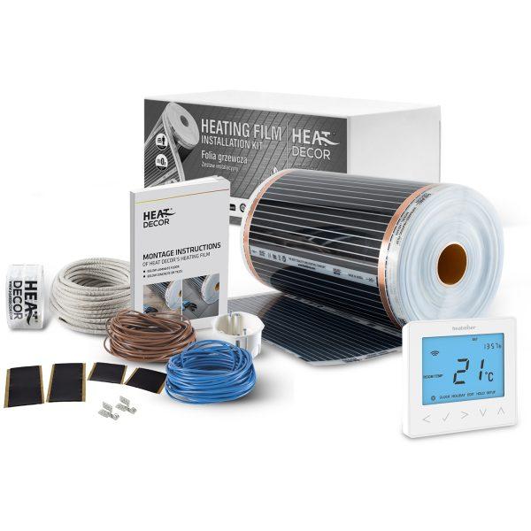 Folia grzewcza Heat Decor HD305 szer. 50cm ZESTAWY 140W/m² - z termostatem neoStat-e