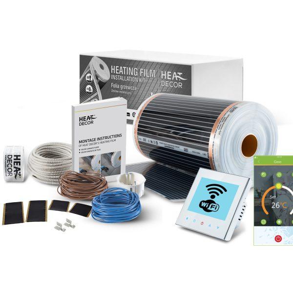 Folia grzewcza Heat Decor HD305 szer. 50cm ZESTAWY WiFi 60W/m² - z termostatem bezprzewodowym BHT1000 Wi-Fi