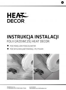 Folia grzewcza Heat Decor HD310G szer. 100cm ZESTAWY 140W/m² - z termostatem pokojowym HD-T02