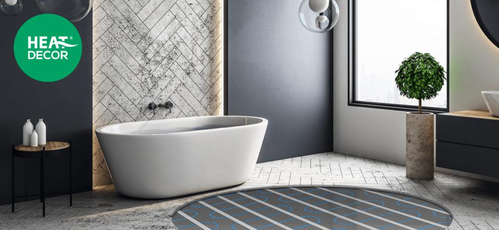 Mata grzewcza pod płytki w łazience ogrzewanie podłogowe