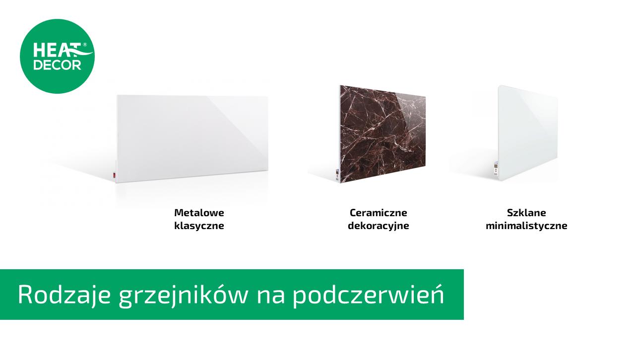 Panele grzewcze na podczerwień rodzaje: grzejnik metalowy, grzejnik ceramiczny i grzejnik szklany