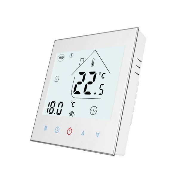 HD-T1000 biały front 1 termostat pokojowy termostat do ogrzewania podłogowego termostat elektroniczny