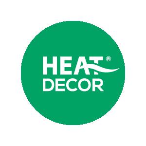 Logo Heat Decor on white